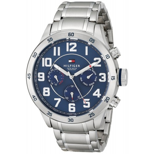23696e3e Tommy Hilfiger Men's 1791053 Stainless Steel Watch with Link Bracelet