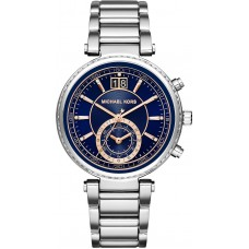 Michael Kors Sawyer Blue Dial Stainless Steel Ladies Watch