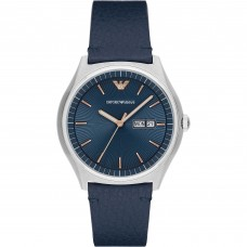 Emporio Armani Men's watch Leather Strap,blue