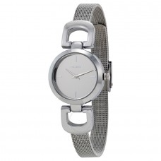 DKNY Silver-Tone D-Link Mesh Bracelet Reade Ladies Watch