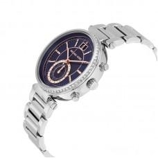 Michael Kors Sawyer Blue Dial Stainless Steel Ladies Watch