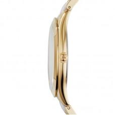 Michael Kors Slim Runway White Dial Gold-tone and White Acetate ladies watch