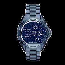 مايكل كورس براد شاو ساعة نسائية ذكية مع شاشة لمس , ازرق