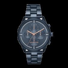 ساعة نسائية مايكل كورس سلاتر أزرق , آي بي كرونوغراف