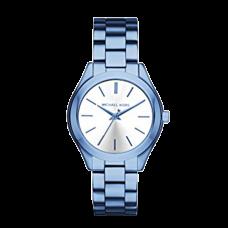 ساعة نسائية مايكل كورس ميني سليم رنواي بزرقة المحيط آي بي , بثلاثة عقارب
