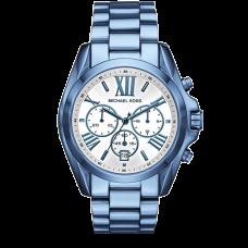 ساعة نسائية مايكل كورس برادشو بلون زرقة المحيط أي بي , كرونوغراف