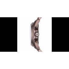 ساعة نسائية مايكل كورس نوير آي بي و سوار جلدي لامع  بلون السمور  و3 عقارب