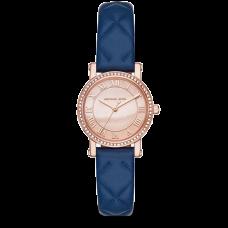 ساعة نسائية مايكل كورس بيتايت نوري بسوار جلدي أزرق بثلاثة عقارب