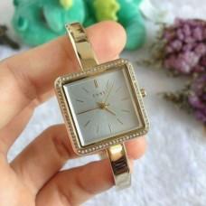 DKNY Stonewall Gold-Tone Three-Hand Women's Watch