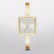 DKNY Stonewall Gold-Tone Three-Hand Women's Watch