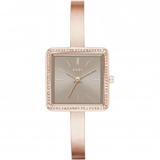 DKNY Stonewall Rose Gold-Tone Three-Hand Women's Watch