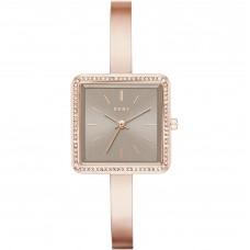 DKNY Stonewall Rose Gold-Tone Three-Hand Women's Watch