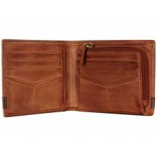 محفظة رجالية فوسيل جلدية كوين لون بني