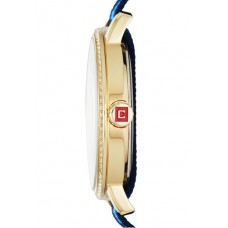 Chaps Whitney Navy & Blue Grosgrain and Gold-Tone women's Watch
