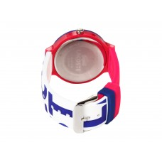 Lacoste casual watch for unisex White blue Silicone Strap