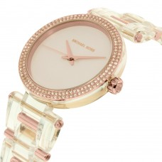 Michael Kors Delray Clear Acetate 3 Hand Watch
