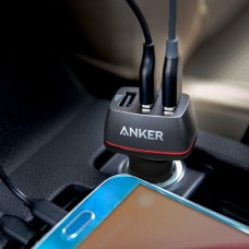 Anker Car Charger 36W PowerDrive+ 3, black