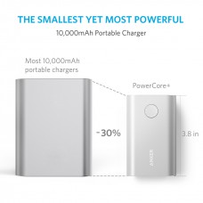 Anker Portable Charger power core+ 10050mAh, Silver