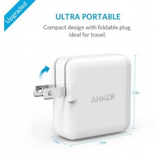 Anker wall charger 18W PowerPort+ 1 Quick Charge 3.0, White