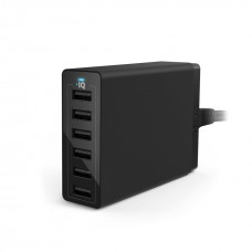 Anker desktop charger PowerPort 6 Quick Charge 2.0 UK 60W, Black