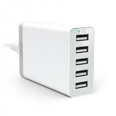 Anker Desktop Charger 40W 5 Port , white