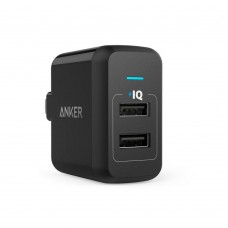 Anker Wall Charger PowerPort 24W Dual USB, black