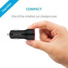 Anker car charger 24w power driver+ 2 ,black