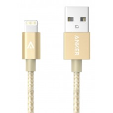 Anker  Nylon-Braided USB to Lightning Cable 90cm, Pure Golden