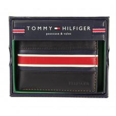 8a859b3ec ... تومي هيلفيجر محفظة رجالية بلون أسود