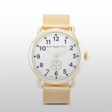 Beverly Hills Polo Club Men's Heritage Goldtone Mesh Band Watch