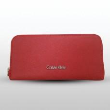 6e861b2f3 كالفين كلاين محفظة نسائية بلون أحمر جلدية ...