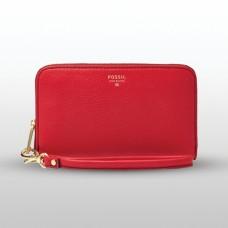 فوسيل محفظة نسائية بلون أحمر
