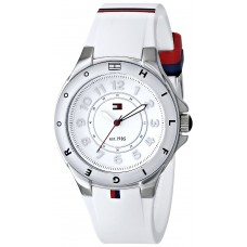 75a8c21ca Tommy Hilfiger Women's 1781271 Stainless Steel Watch with White Silicone  Band ...