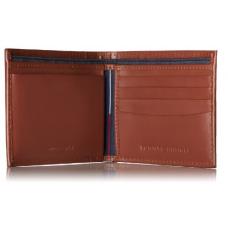 محفظة تومي هيلفيجر بلون التان المتميز ,جلد طبيعي